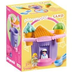 Packaging de la boîte Playmobil Stand de glaces avec sceau 9406.