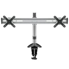 "Support de table VESA ScreenFlex Twin pour 2 écrans de 13"" à 27""."