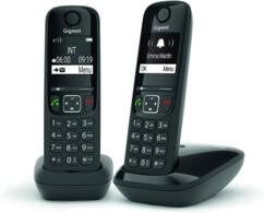 Téléphone fixe AS690 Duo - 2 combinés - Sans répondeur - Noir