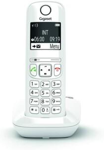 Téléphone fixe Gigaset AS690 Solo blanc.