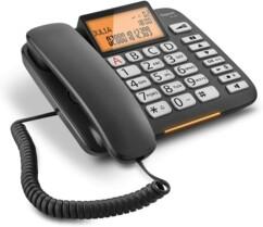 Téléphone fixe Gigaset DL580 noir.