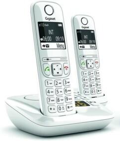 Téléphones fixes AS690A Duo - 2 combinés - Avec répondeur - Blanc