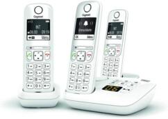 Téléphones fixes AS690A Trio - 3 combinés - Avec répondeur - Blanc