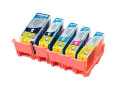 5 Cartouches I Color compatibles Color Pack avec puce
