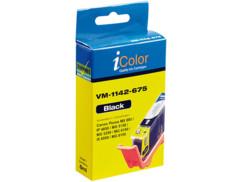 Cartouche I Color compatible Canon photo noir avec puce
