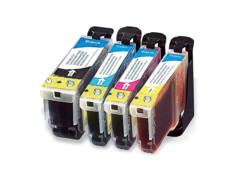 4 cartouches compatibles Canon PGI-5 et CLI-8 - CMJN