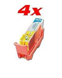 4 Cartouches I Color compatibles Canon jaune avec puce