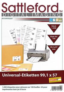 1000 étiquettes autocollantes 99,1 x 57 mm