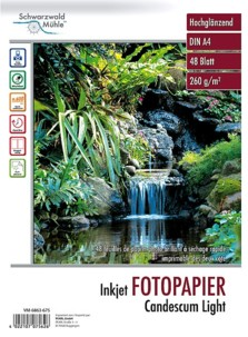 48 feuilles papier photo double face brillant A4 - 260 G