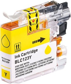 Cartouche compatible Brother LC-123Y - Jaune