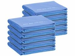 Lot de 10 serviettes de bain Pearl en microfibres synthétiques.