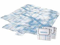 Lot de 2 couvertures de pique-nique à croisillons de 250 x 200 cm.