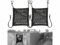 Lot de 2 filets de rangement élastiques Lescars pour dossier de siège auto.