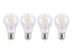 Pack de 4 ampoules LED E27 à filament avec une puissance de 6 watts et une luminosité de 806 lumens.
