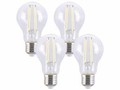 4 ampoules LED à filament E27 - 7,2 W - 806 lm - Blanc lumière du jour