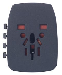 Adaptateur universel 3 en 1 avec 2 ports USB 2,5 A / 12,5 W