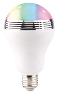 ampoule e27 LED multicolore avec haut parleur bluetooth auvisio