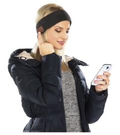 Bandeau avec bluetooth et fonction mains-libres - Noir