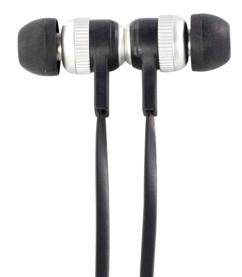 Écouteurs câble plat avec fermeture magnétique