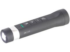lampe de poche avec haut parleur sans fil et kit mains libres bluetooth ZX1622 auvisio