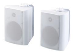 paire de haut parleurs stereo sans fil bluetooth à fixer au mur auvisio SMR720 outdoor etanches auvisio
