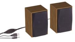 Haut-parleurs stéréo actifs USB design bois