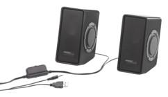 paire hauts parleurs puissants pour PC avec subwoofer intégré Auvisio