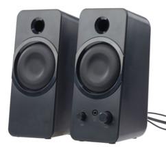pack de 2 mini enceintes audio msx-150 auvisio stereo 20W