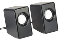 Haut-parleurs stéréo actifs USB 6 W avec entrée jack 3,5 mm msx110 auvisio