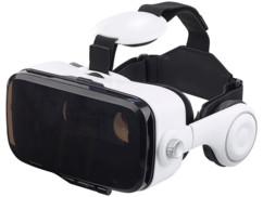 masque VR reglable pour smartphone 4 5 6 pouces avec ecouteurs intégrés vrb703d auvisio