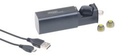oreillette micro mains libres sans fil pour iphone android avec boitier de chargement callstel