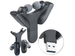 paire ecouteurs audio sans fil bluetooth avec chargeur usb mobile pliable airpod pas cher