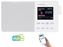 radio analogique fm numerique dab+ avec bluetooth couleur blanc dor310 vr radio