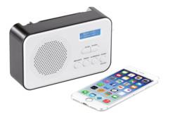 Radio mobile numérique DAB+/ FM 8W avec fonctions bluetooth 5.0et réveil DOR-215