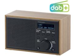 radio reveil fm et dab+ en bois brun clair à petit prix dor-240 auvisio