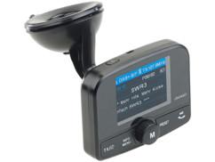 transmetteur radio fm dab dab+ numérique auvisio avec lecteur mp3 sd et bluetooth