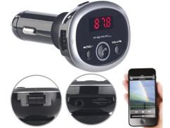 Transmetteur FM avec fonctions bluetooth/mains libres/lecteur MP3 et port de chargement USB