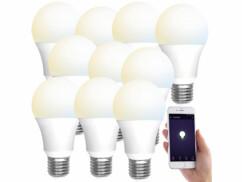 10 ampoules LED connectées E27/ 9W/ 2700– 6500K/ CCT LAV-110.w