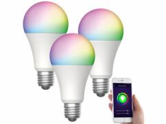 3 ampoules LED connectées E27 / 9W / RVB / CCT LAV-150.rgbw