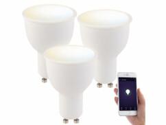 3 ampoules LED connectées GU10 4,5 W LAV-45.t - CCT