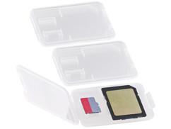 3 boîtes de protection pour carte SD / MiniSD / MMC