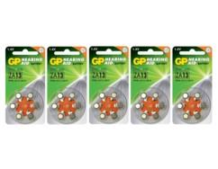 Lot de 30 piles bouton PR48 de la marque GP Batteries.