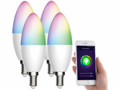4 ampoules LED connectées E14/ 5,5 W / RVB / CCTLAV-155.rgbw