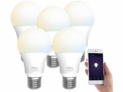 5 ampoules LED connectées E27/ 9W/ 2700– 6500K/ CCT LAV-110.w