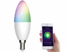 Ampoule LED LAV-155.rgbw connectée par application mobile.