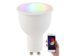 Ampoule LED connectée GU10 A+ 4,5 W compatible Alexa LAV-45.rgbw - RVB + BC
