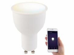 Ampoule LED connectée GU10 A+ 4,5 W compatible Alexa LAV-45.t - BC + B