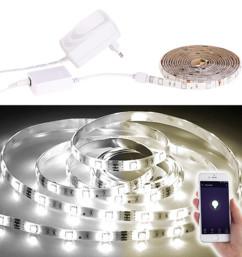 Bande LED LAT-212 - 2 m blanc ajustable - Avec accessoires