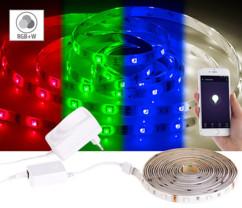 Bande LED LAX-515 - 5 m RVB + Blanc chaud - Avec accessoires
