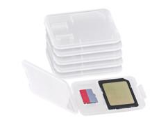 6 boîtes de protection pour carte SD / MiniSD / MMC